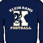 Performance Moisture Wicking - Klein Rams Navy L/S Crew Neck